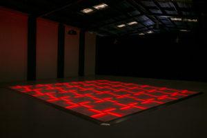 Red LED dance floor