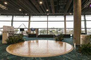 parquetry circle dance floor