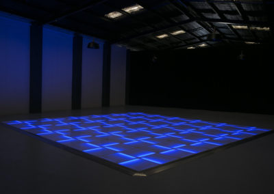 Blue LED dance floor
