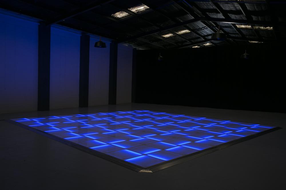 Blue LED dance floor