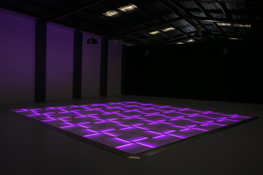 Purple LED dance floor