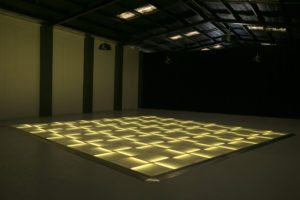 Yellow LED dance floor