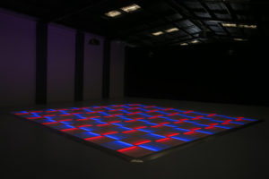 Blue and Red LED dance floor