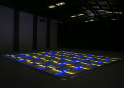 Blue and yellow LED dance floor