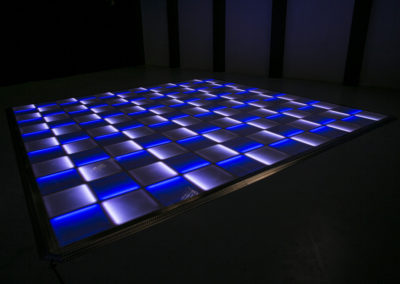 Blue and white LED dance floor