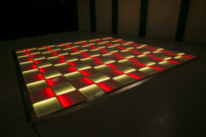 Red and yellow LED dance floor