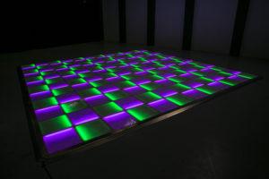 Purple and green LED dance floor