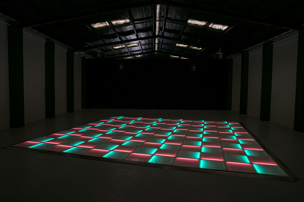 Green and red LED dance floor