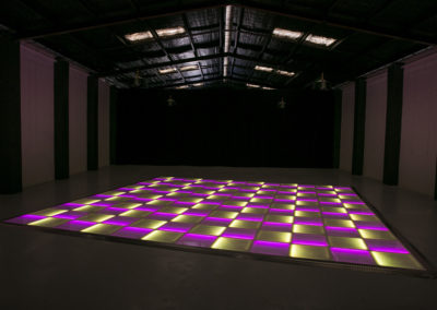 Purple and yellow LED dance floor