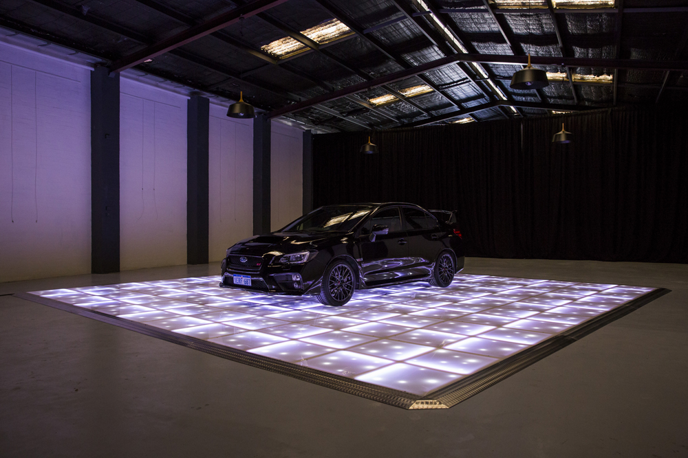 White LED with stars displaying car