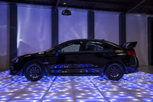 Product display on LED dance floor