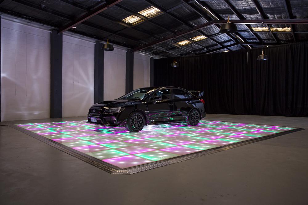Car display for photo shoot