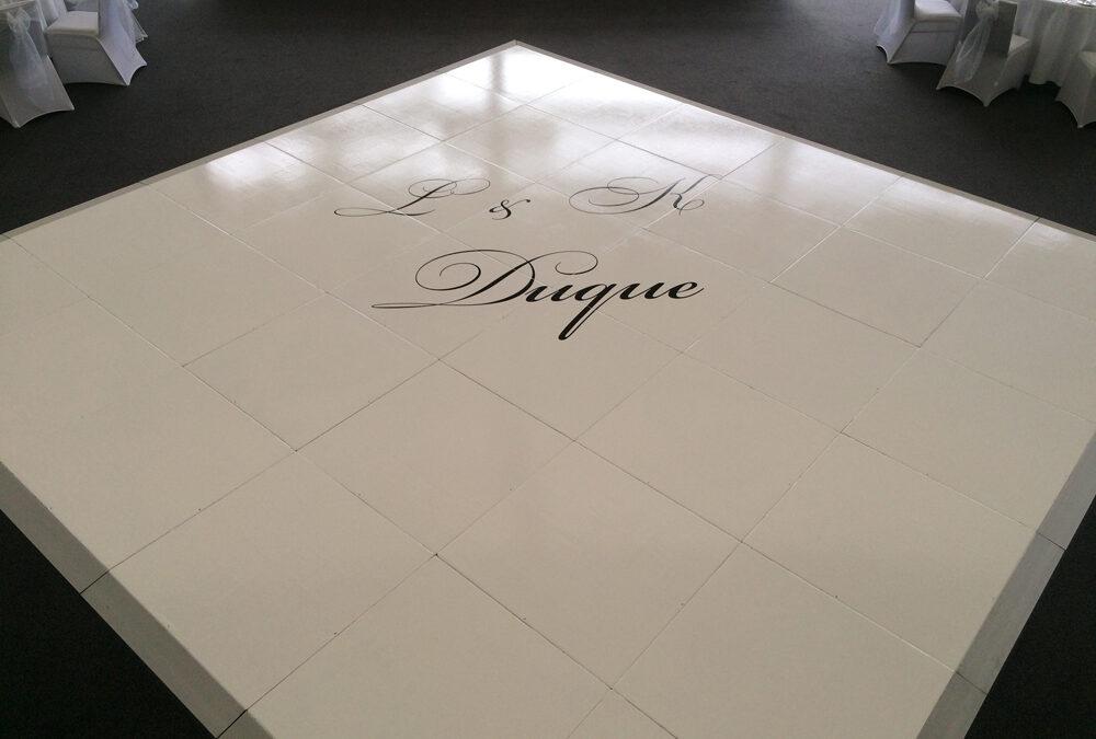 Wedding dance floor at State Reception Centre