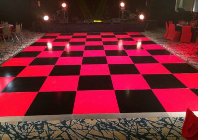 Red and Black dance floor for Gala Dinner