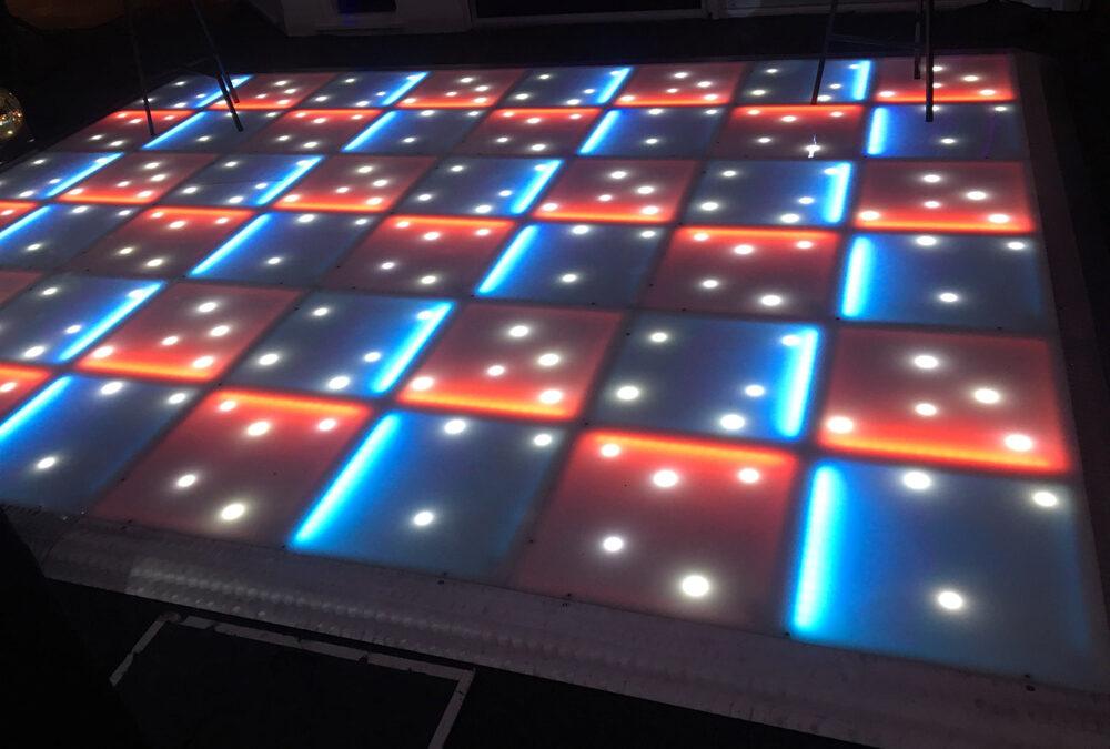 Blue and orange LED with stars