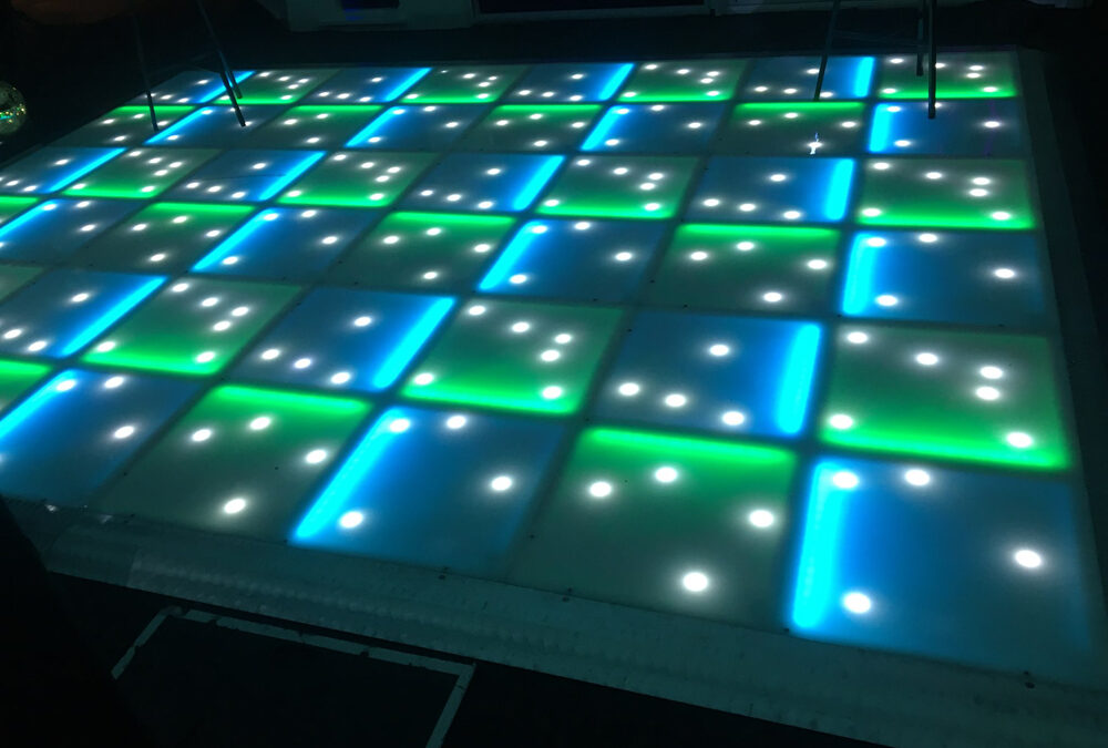 Blue and green LED with stars
