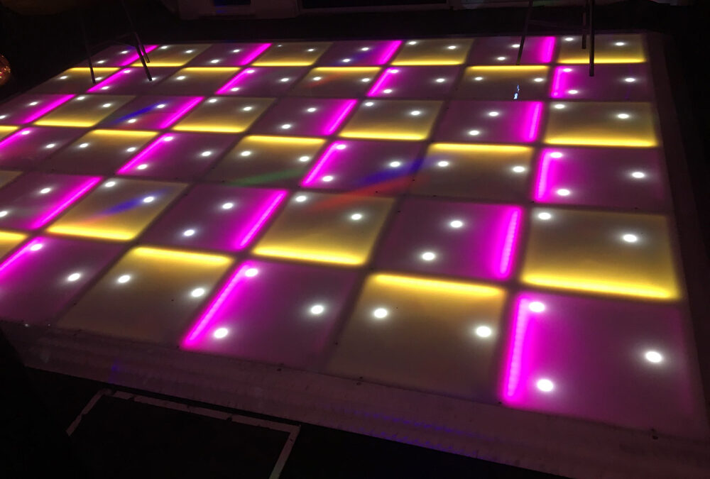 Pink and yellow LED with stars