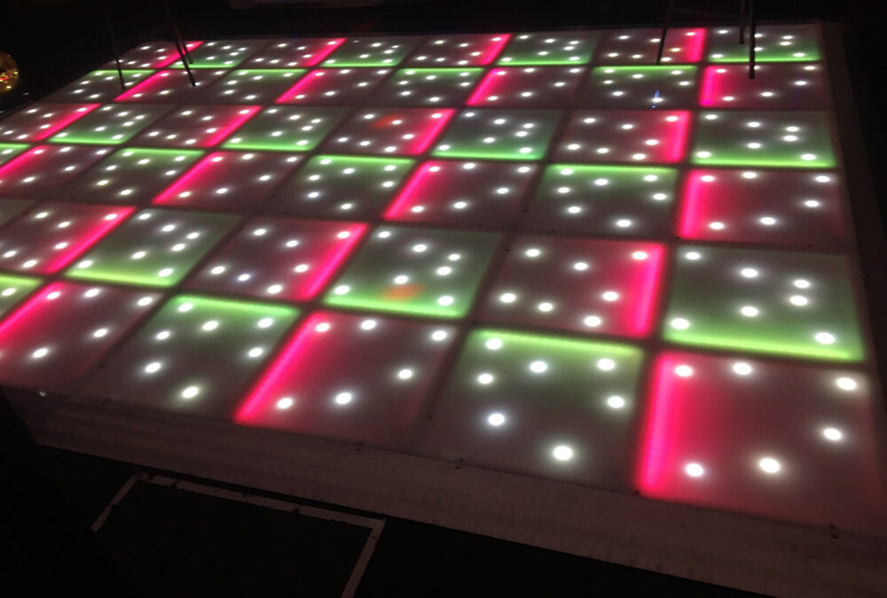 Red and green LED with stars