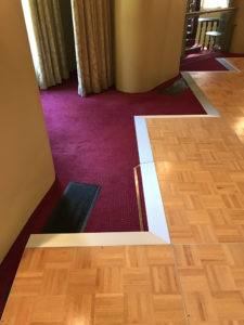 customised parquetry dance floor