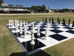 chess board floor