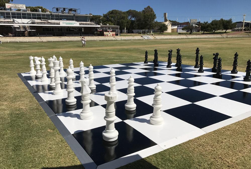 Checker Chess Board for Breast Cancer Care W.A