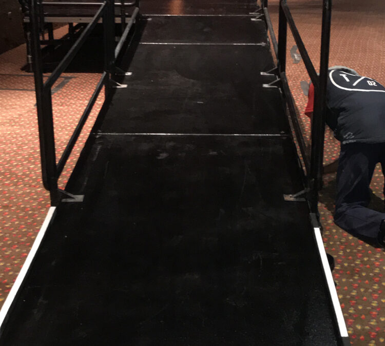 Wheelchair ramp at Crown Resort