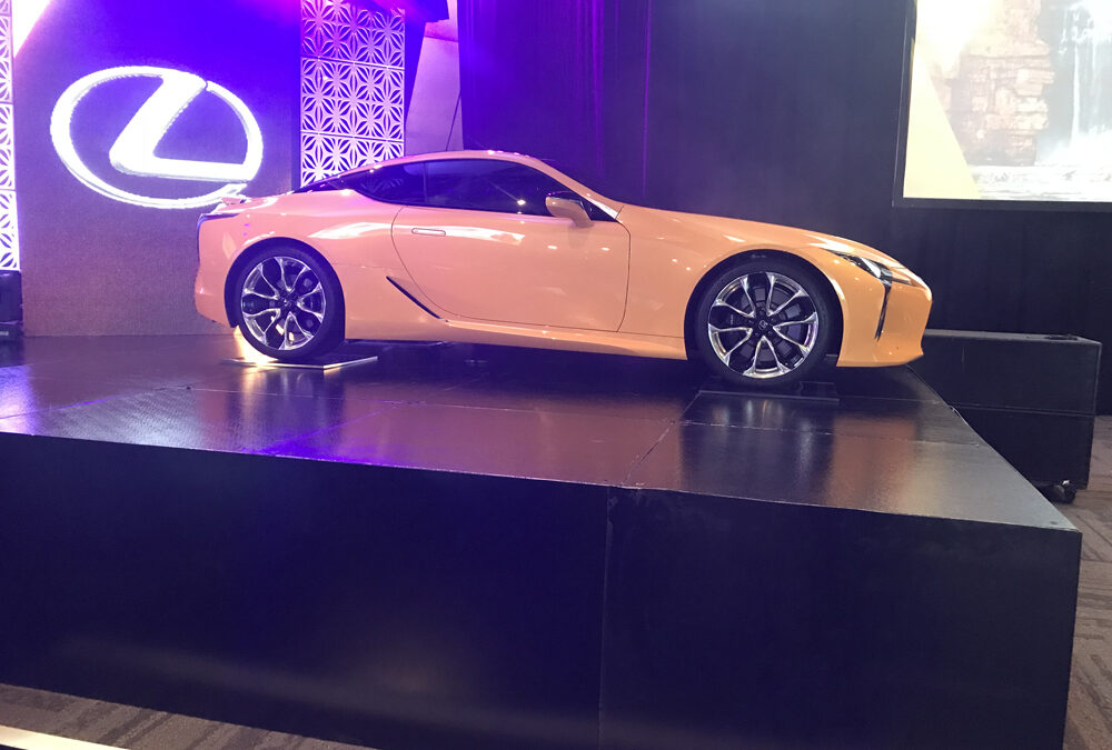 Lexus car on stage at Perth Convention and Exhibition Centre