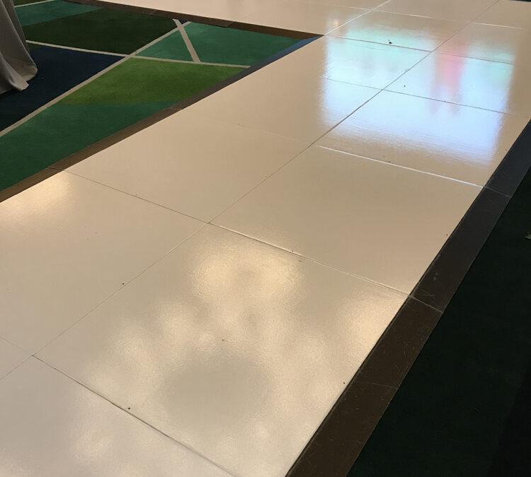 White runway for Wedding at Crown Resort