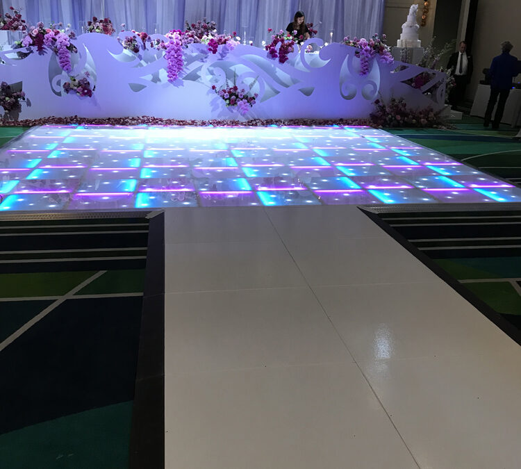 White runway joined with a Starlight dance floor