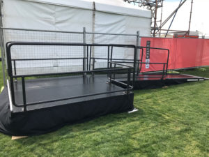 Stage and wheelchair ramp