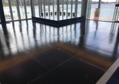black gloss dance floor