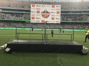 Rolling stage at Optus Stadium