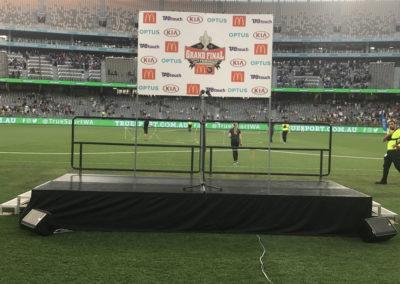 Rolling stage at Optus Stadium