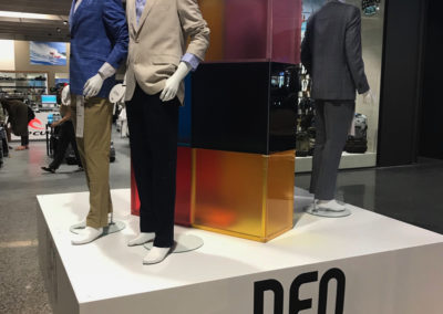 Product display stage for DFO Opening
