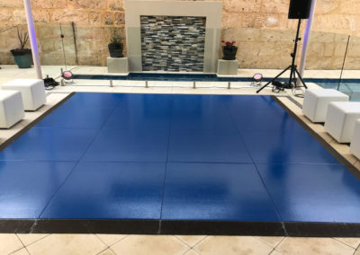 Dance floor at private residence