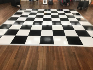 checker board dance floor