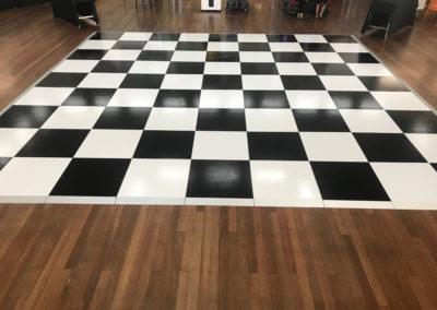 checker board dance floor