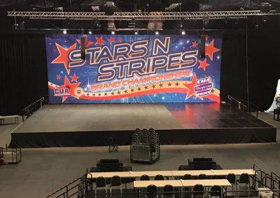 Massive stage for Cheer and Dance event