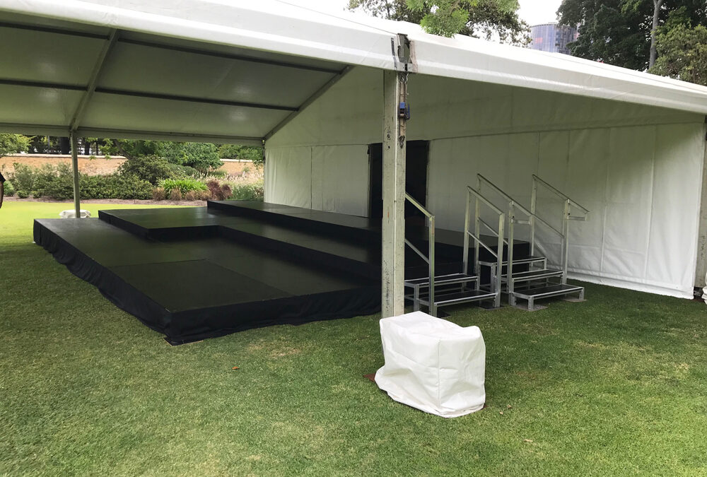 Multi-level stage for outdoor event