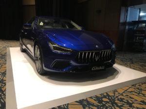 Maserati car display