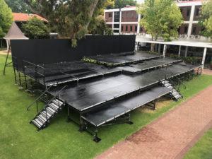 High School Graduation stage