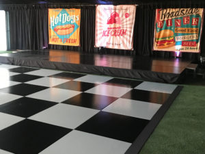 dance floor with stage