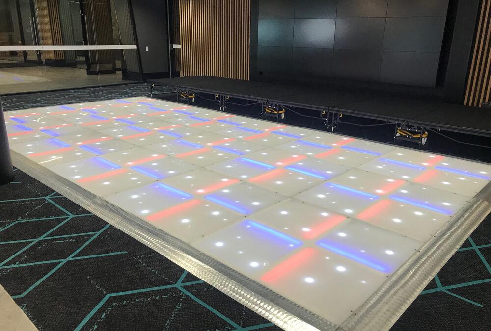 LED dance floor at Optus Stadium