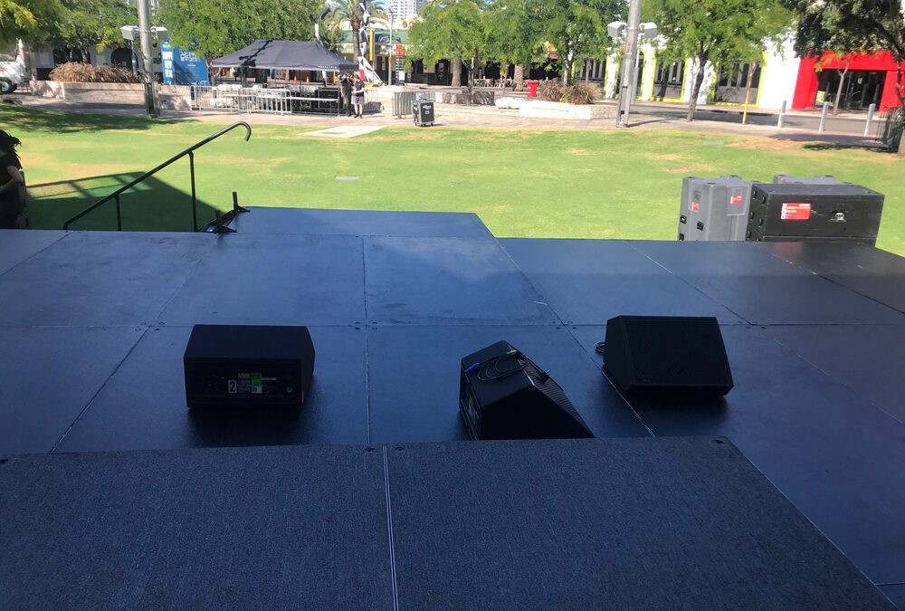 Stage set up on even ground