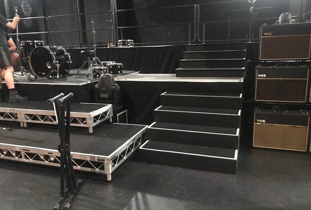 Tiered stage for Tribute Show