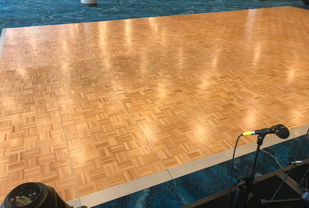 Dance floor with silver edging