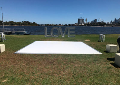 Outdoor dance floor at Burswood on Swan