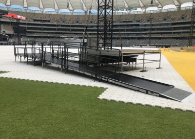 Eminem Concert Acrod Stage at Optus Stadium