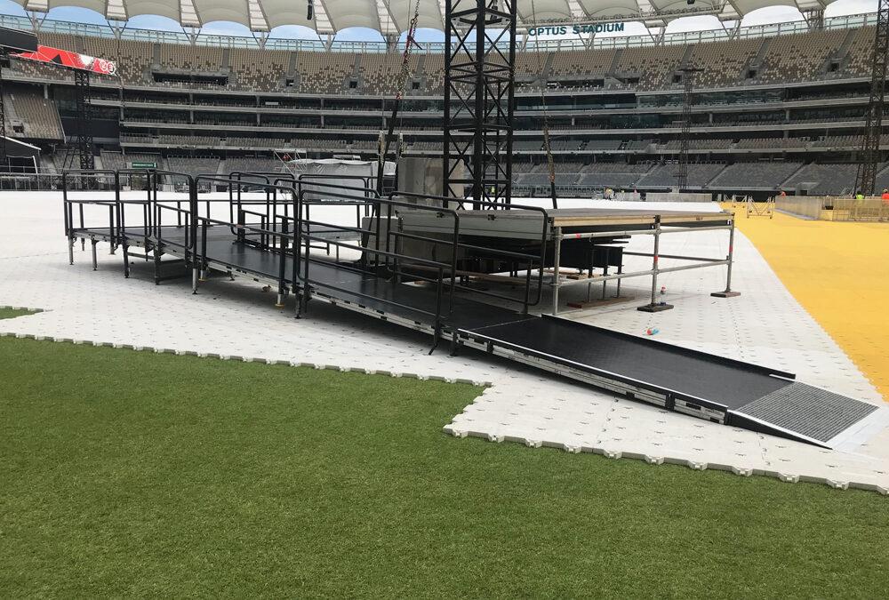 Eminem Concert Acrod Stage at Optus Stadium