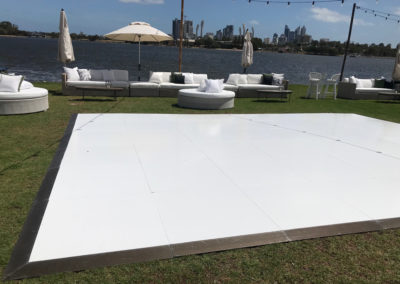 Outdoor event overlooking Swan River